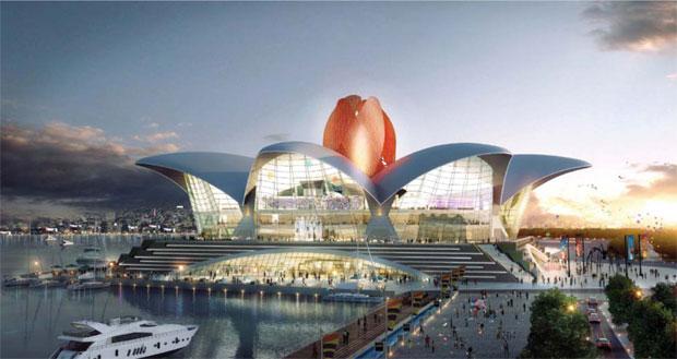 """افتتاح مركز الترفيه """"Caspian Waterfront"""" في باكو"""